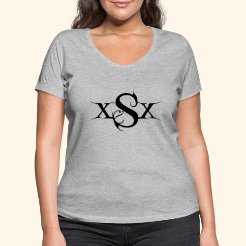 SynapsEyes Logo mittel - Frauen Bio-T-Shirt mit V-Ausschnitt von Stanley & Stella