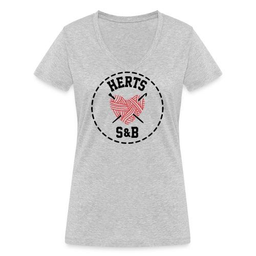 StitchAndBitchFrontLogo_B - Women's Organic V-Neck T-Shirt by Stanley & Stella