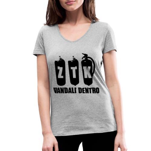 ZTK Vandali Dentro Morphing 1 - Women's Organic V-Neck T-Shirt by Stanley & Stella