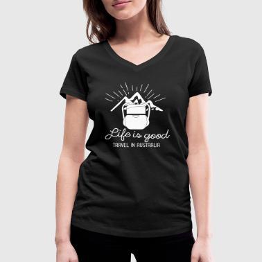 Reise reise - Økologisk T-skjorte med V-hals for kvinner fra Stanley & Stella