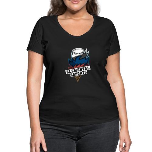 Elemental eSports | 2018 Logo - Økologisk Stanley & Stella T-shirt med V-udskæring til damer