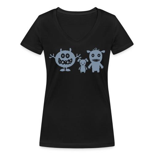 Spassbremsen Maennchen - Frauen Bio-T-Shirt mit V-Ausschnitt von Stanley & Stella