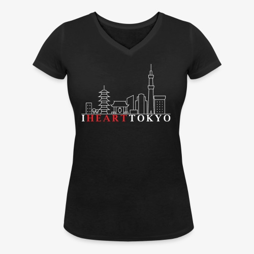 I HEART TOKYO Ver.2 - T-shirt bio col V Stanley & Stella Femme