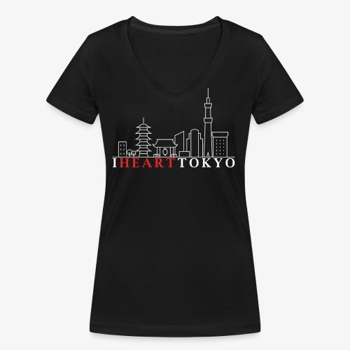 I HEART TOKYO Ver.2 - Women's Organic V-Neck T-Shirt by Stanley & Stella