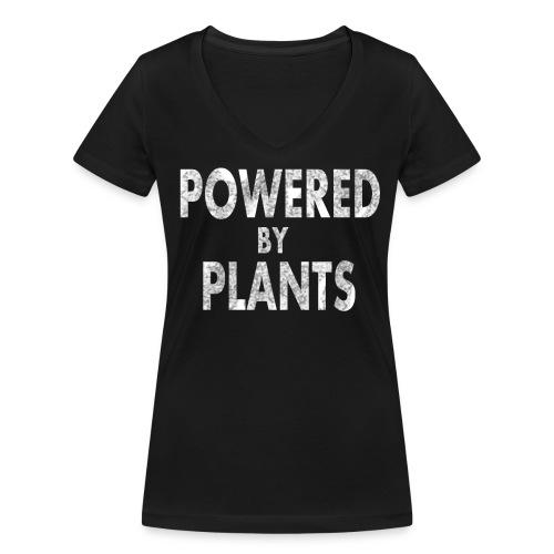 Powered by plants - Frauen Bio-T-Shirt mit V-Ausschnitt von Stanley & Stella