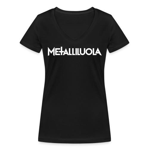 Metalliluola logo - Stanley & Stellan naisten v-aukkoinen luomu-T-paita
