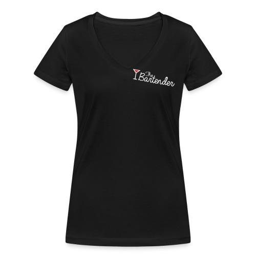 the bartender logo - T-shirt ecologica da donna con scollo a V di Stanley & Stella
