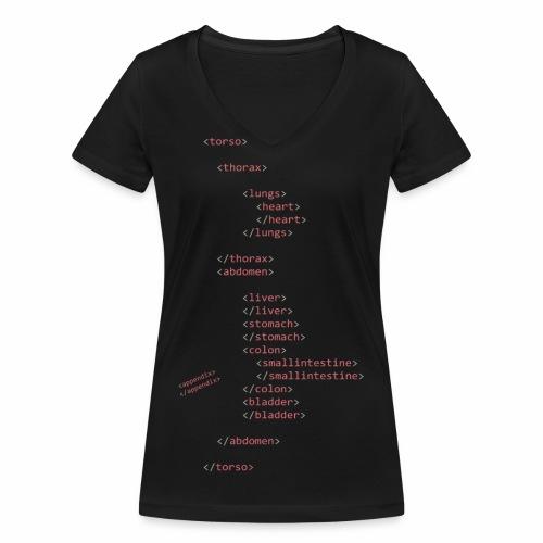 HTML Oberkörper - Frauen Bio-T-Shirt mit V-Ausschnitt von Stanley & Stella