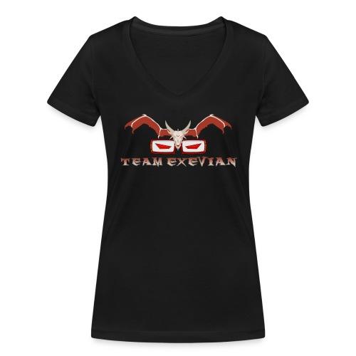Logo speciale 1000 Iscritti con Scritta in Basso - T-shirt ecologica da donna con scollo a V di Stanley & Stella