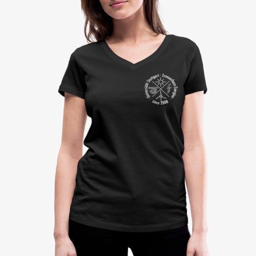 Chest Logo weiß - Frauen Bio-T-Shirt mit V-Ausschnitt von Stanley & Stella
