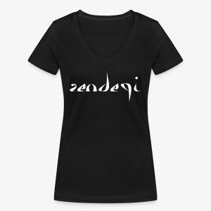 Zendegi (Leben) - White - Frauen Bio-T-Shirt mit V-Ausschnitt von Stanley & Stella