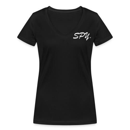 SPY White - Frauen Bio-T-Shirt mit V-Ausschnitt von Stanley & Stella