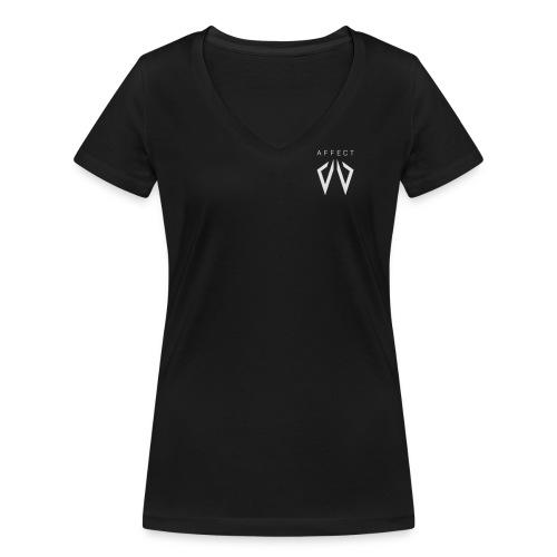 Affect Wear Logo white - Frauen Bio-T-Shirt mit V-Ausschnitt von Stanley & Stella
