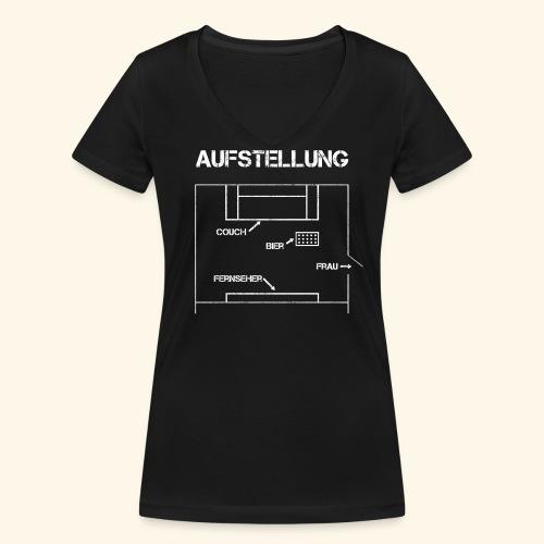 Fussball Aufstellung Weltmeisterschaft Geschenk - Frauen Bio-T-Shirt mit V-Ausschnitt von Stanley & Stella