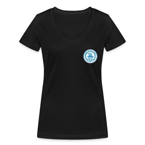 Logo de Policía de Realiacity - Camiseta ecológica mujer con cuello de pico de Stanley & Stella