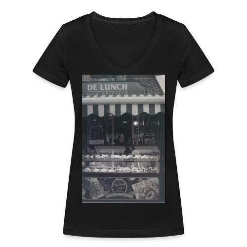 Kraampje urban shirt - Vrouwen bio T-shirt met V-hals van Stanley & Stella