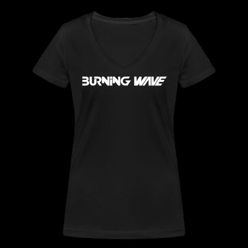 Logo Burning Wave - T-shirt bio col V Stanley & Stella Femme