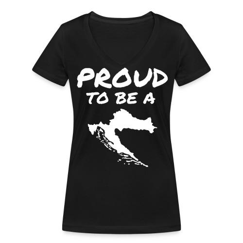 PTBAC white - Frauen Bio-T-Shirt mit V-Ausschnitt von Stanley & Stella