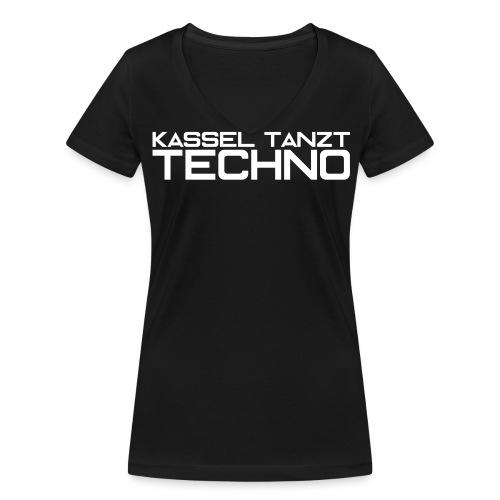 KASSEL TANZT TECHNO - Frauen Bio-T-Shirt mit V-Ausschnitt von Stanley & Stella