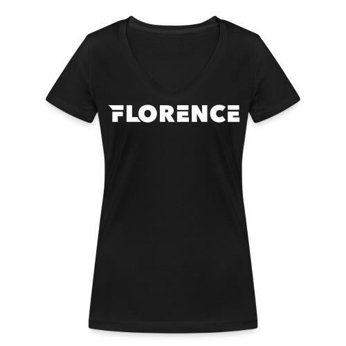Florence black/white Collection - Frauen Bio-T-Shirt mit V-Ausschnitt von Stanley & Stella