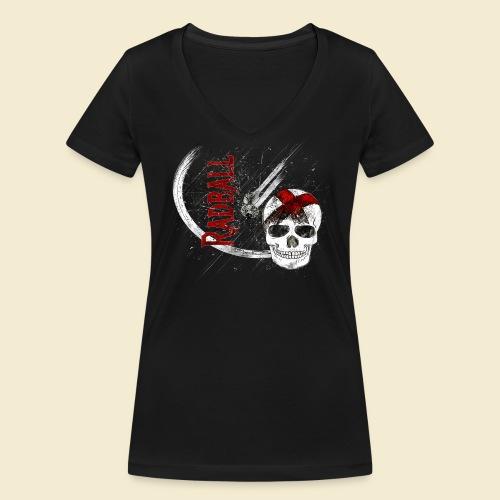 Radball | Cycle Ball Skull - Frauen Bio-T-Shirt mit V-Ausschnitt von Stanley & Stella