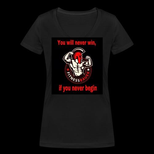 You will never win - Frauen Bio-T-Shirt mit V-Ausschnitt von Stanley & Stella