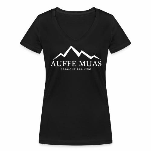 Auffe muas - Frauen Bio-T-Shirt mit V-Ausschnitt von Stanley & Stella