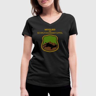 Schmutzhundestaffel - Frauen Bio-T-Shirt mit V-Ausschnitt von Stanley & Stella