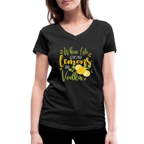 vodka lemon - Frauen Bio-T-Shirt mit V-Ausschnitt von Stanley & Stella