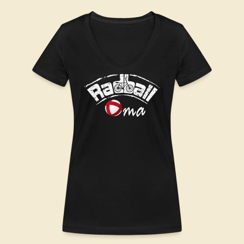 Radball | Oma - Frauen Bio-T-Shirt mit V-Ausschnitt von Stanley & Stella