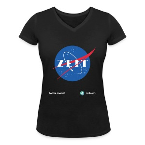 One small step for Zeit - Women's Organic V-Neck T-Shirt by Stanley & Stella