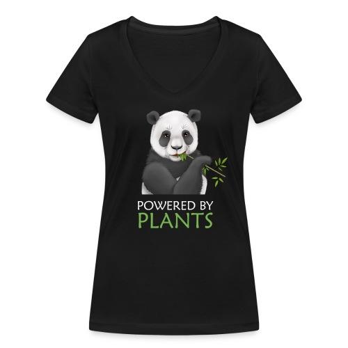 Plantbased Panda - Ekologisk T-shirt med V-ringning dam från Stanley & Stella