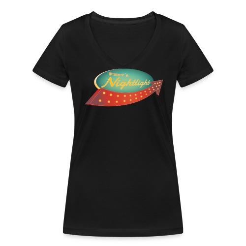 FRDY's Nightlight Logo - Frauen Bio-T-Shirt mit V-Ausschnitt von Stanley & Stella