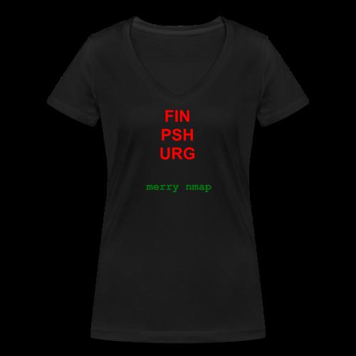 Merry nmap - Women's Organic V-Neck T-Shirt by Stanley & Stella