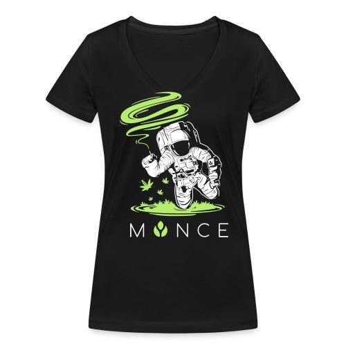 MYNCELUV – Astronaut T-Shirt - Frauen Bio-T-Shirt mit V-Ausschnitt von Stanley & Stella