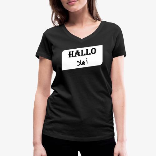 Hallo - Syrisch - Frauen Bio-T-Shirt mit V-Ausschnitt von Stanley & Stella