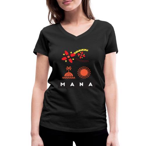 Mana Surf Sun Sea Flowers and Love by Te-Moana - Frauen Bio-T-Shirt mit V-Ausschnitt von Stanley & Stella