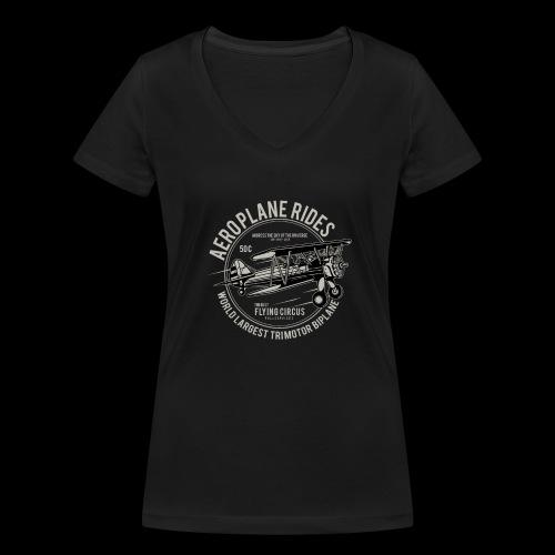 Aeroplane Ride - Frauen Bio-T-Shirt mit V-Ausschnitt von Stanley & Stella