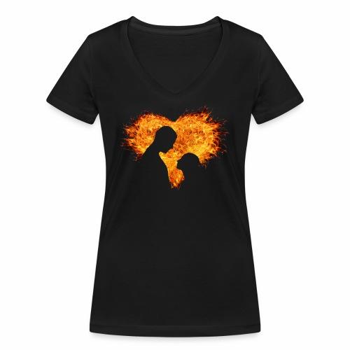 T'shirt amour inséparable - T-shirt bio col V Stanley & Stella Femme