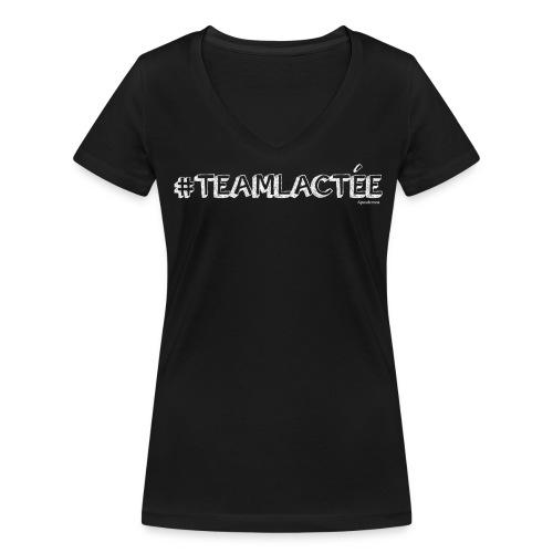 teamlacte e blanc - T-shirt bio col V Stanley & Stella Femme