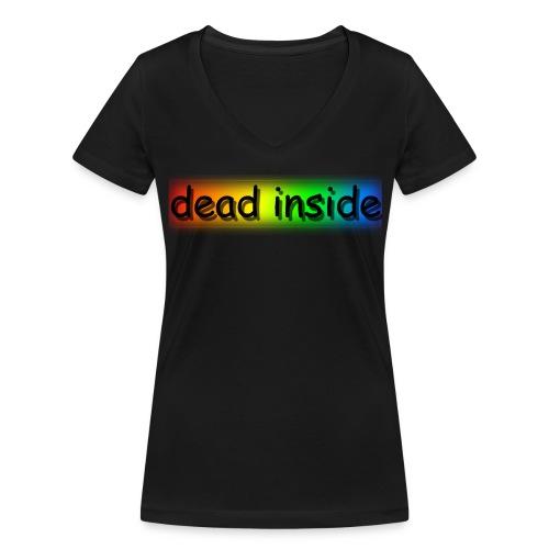 dead inside - Vrouwen bio T-shirt met V-hals van Stanley & Stella