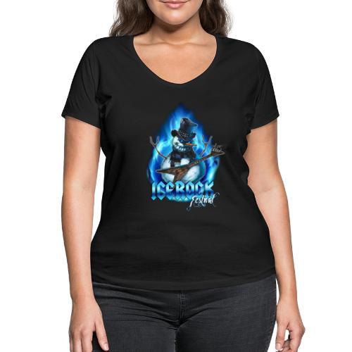 Snowman Evil - Frauen Bio-T-Shirt mit V-Ausschnitt von Stanley & Stella