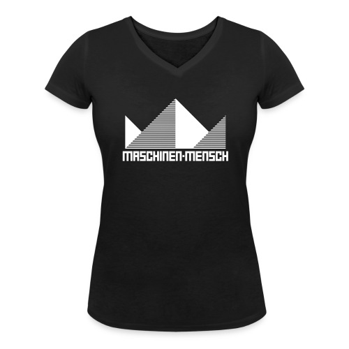 Maschinen-Mensch Logo black - Frauen Bio-T-Shirt mit V-Ausschnitt von Stanley & Stella