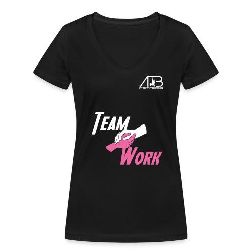 team work - T-shirt bio col V Stanley & Stella Femme