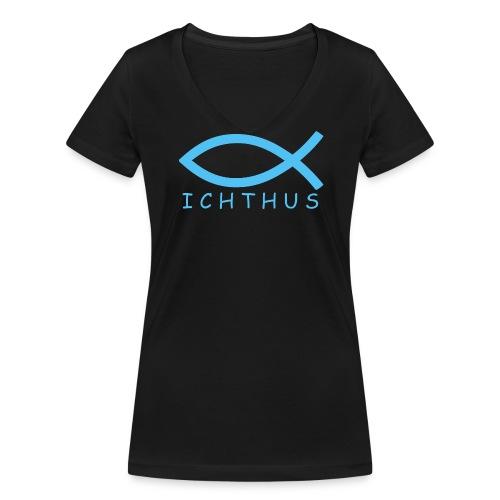 Ichthus - Frauen Bio-T-Shirt mit V-Ausschnitt von Stanley & Stella