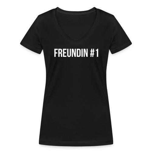 Freundin #1 - Frauen Bio-T-Shirt mit V-Ausschnitt von Stanley & Stella