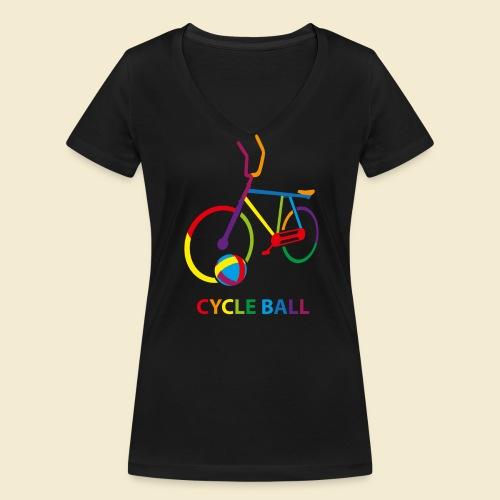 Radball | Cycle Ball Rainbow - Frauen Bio-T-Shirt mit V-Ausschnitt von Stanley & Stella