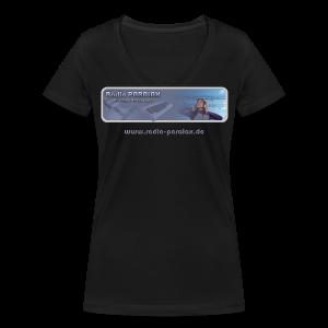 Radio PARALAX Classic-Logo mit Webadresse - Frauen Bio-T-Shirt mit V-Ausschnitt von Stanley & Stella