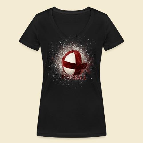 Radball | Ball - Frauen Bio-T-Shirt mit V-Ausschnitt von Stanley & Stella