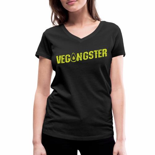 Vegangster Shirt Veganer T-Shirt Geschenk - Frauen Bio-T-Shirt mit V-Ausschnitt von Stanley & Stella